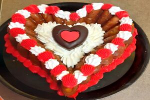 Special Valentine's Day Rum Baba Cake